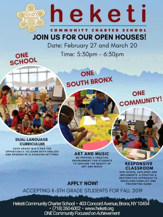 Open House Flyer - 2/27 & 3/20