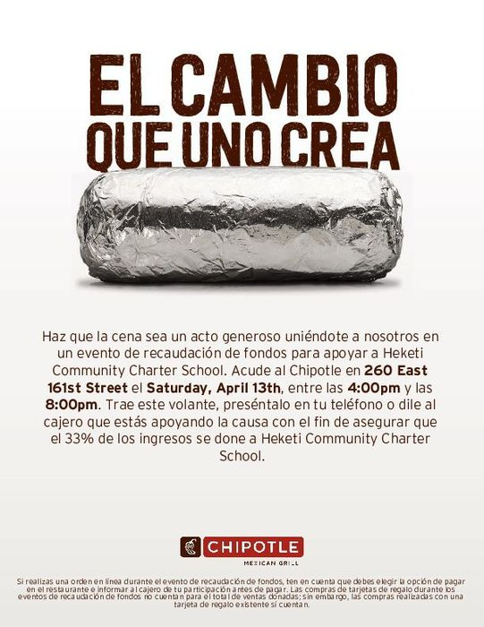 Chipotle Flyer (Spanish)