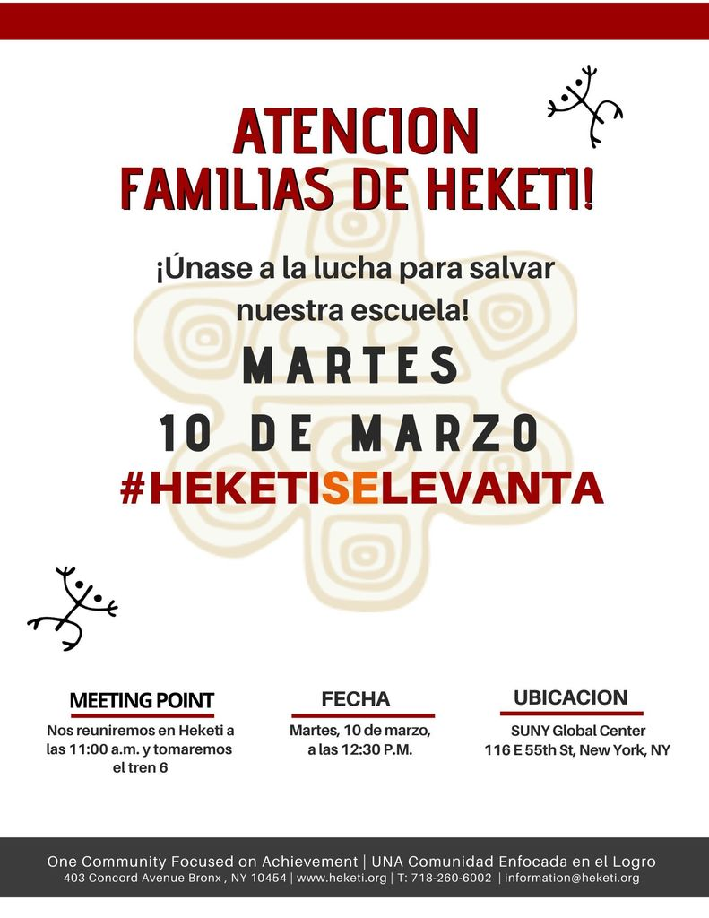 Attention Heketi Families! Join the fight to save our school! Tuesday, March 10th.