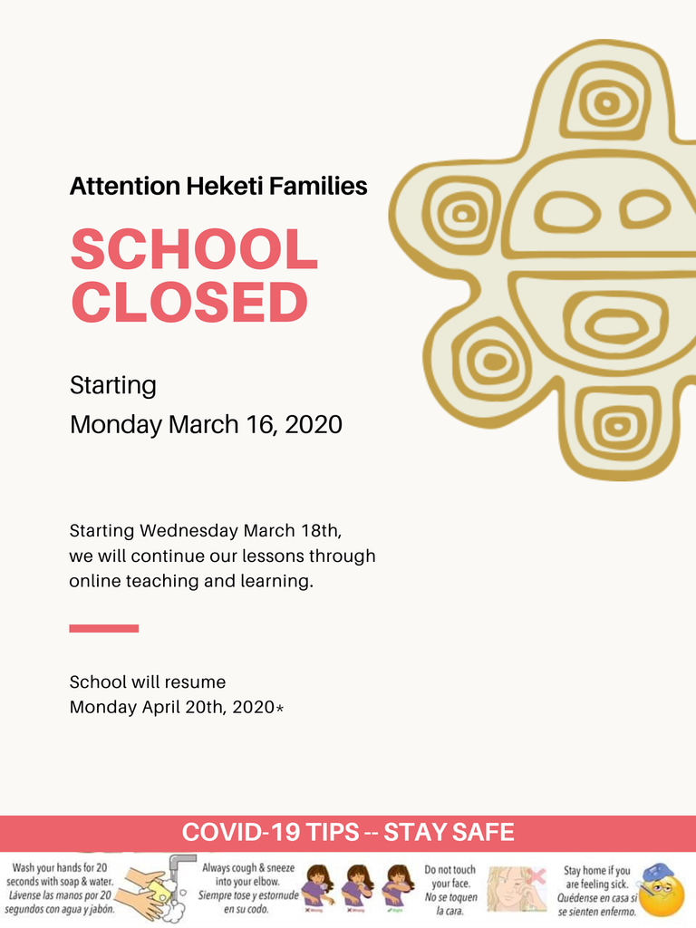 Families we are closed until April 20th see details below